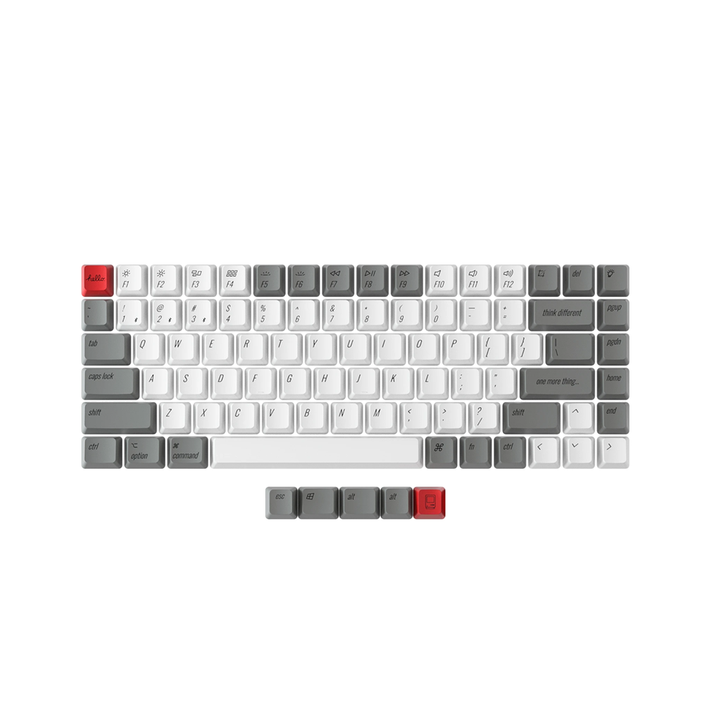 Keychron K2 PBT Retro Mac Keycap Set