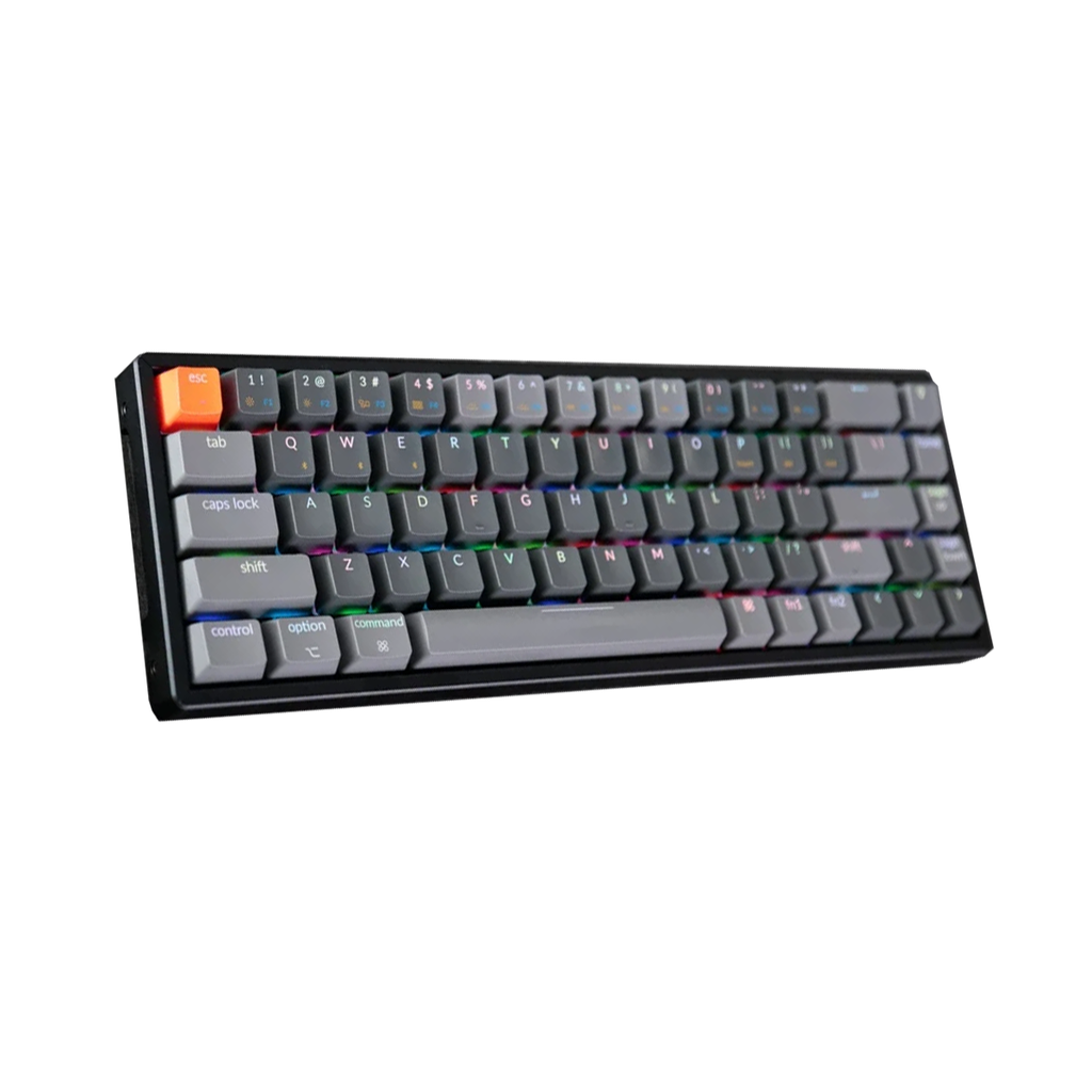 Keychron K6 Wireless Mechanical Keyboard - RGB Backlight Aluminum Bezels