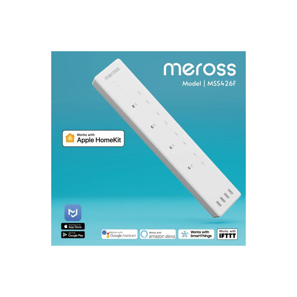Meross Apple HomeKit 4 Outlet Smart Surge Protector MSS426F