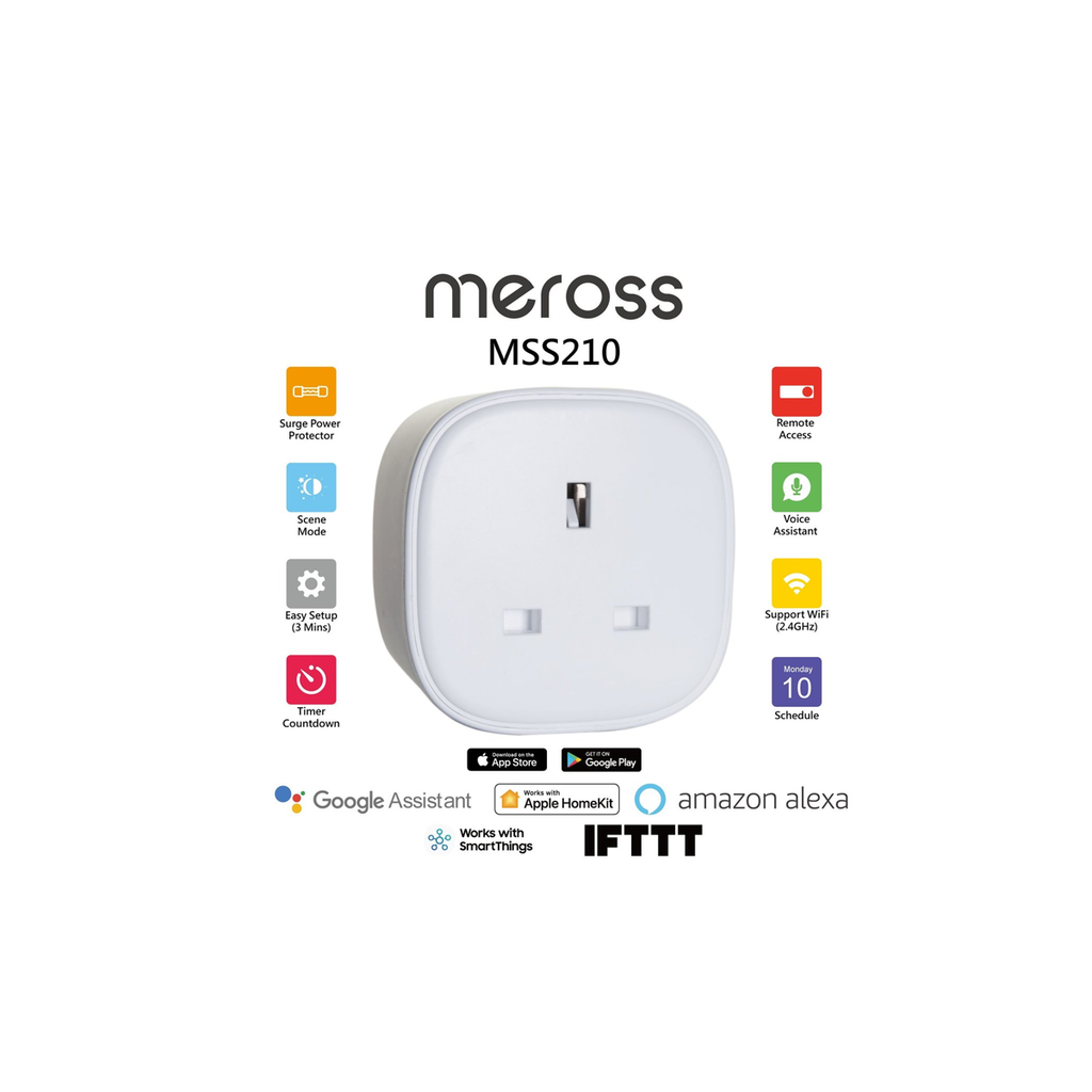 Meross MSS210 Smart Plug (Apple HomeKit)