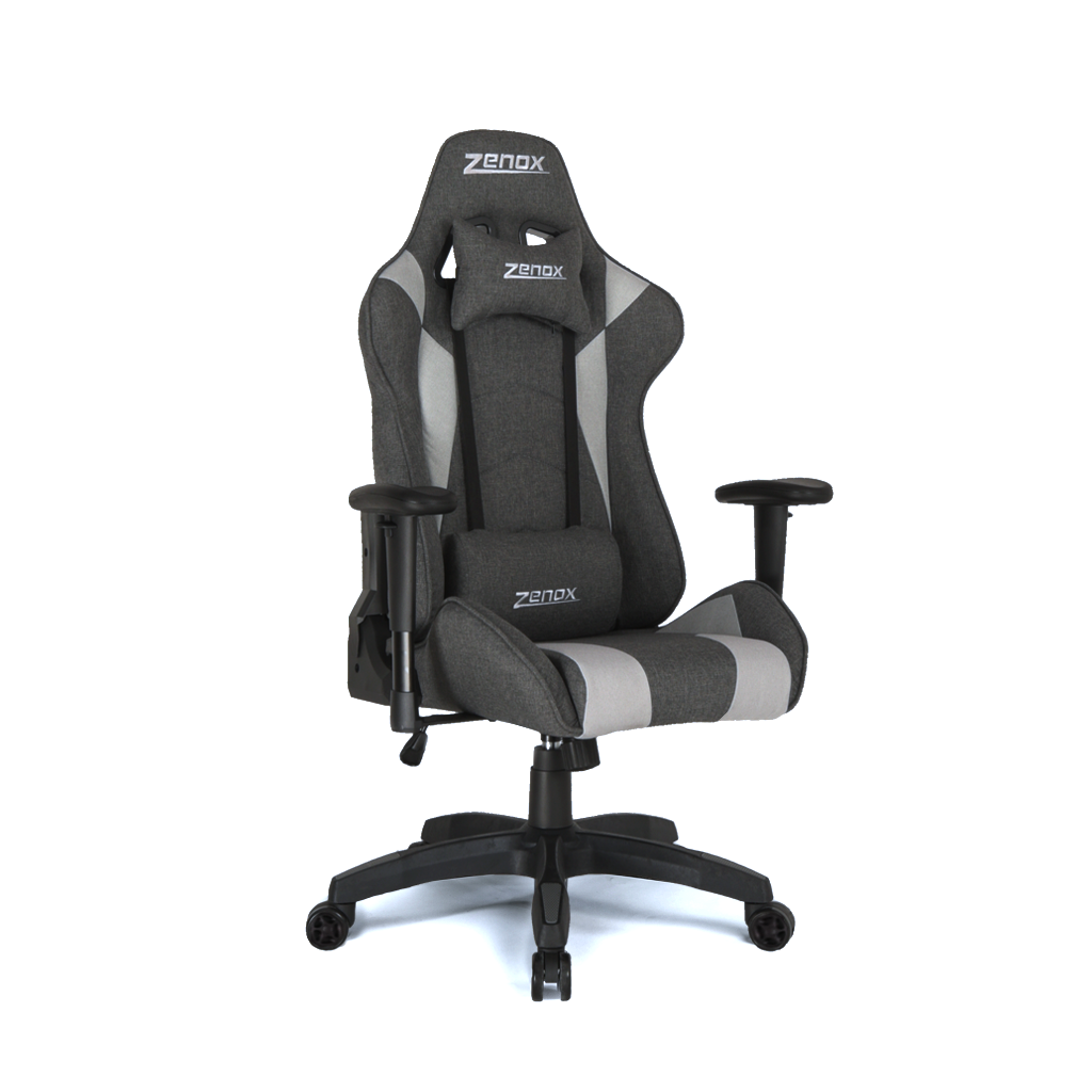 Saturn Racing Chair (Grey Fabric)-Zenox