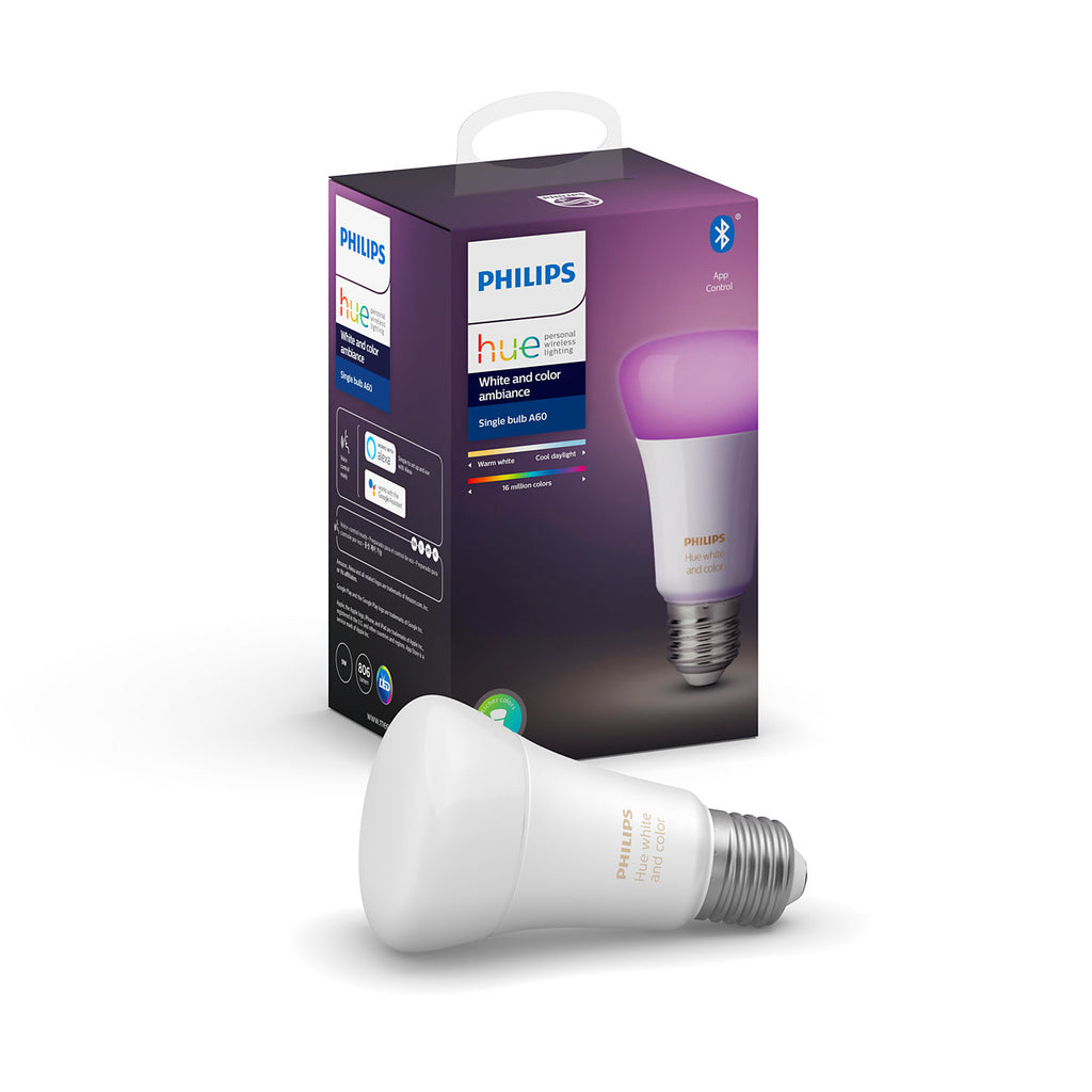 Philips Hue White and Color Ambiance Bluetooth Single Bulb 9W A60 E27