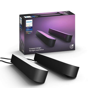Philips Hue PLAY Base Kit (2 pack) + Bridge + Zenox Saturn Racing Chair BUNDLE