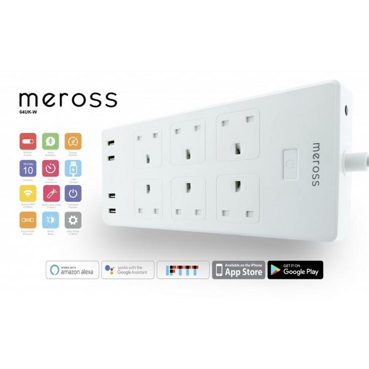 Meross 6 Port 4 USB Power Strip Smart WIFI Surge Protector