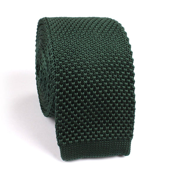 Forest Green Knitted Tie - TheSavvy.be