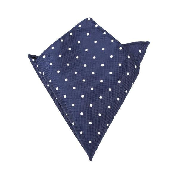 Navy Blue Polka Dot Pocket Square - TheSavvy.be