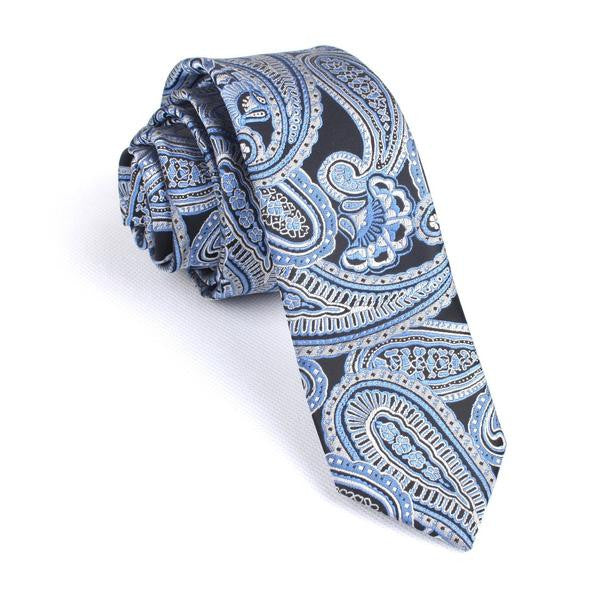 Blue Paisley Tie - TheSavvy.be