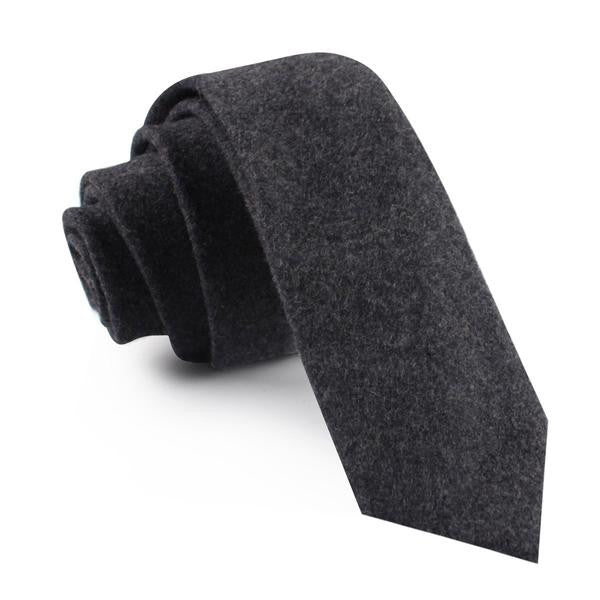 Charcoal Grey Wool Tie - TheSavvy.be
