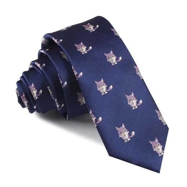 Navy Blue Bengal Wolf Tie - TheSavvy.be