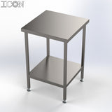 Stainless Steel Catering Table with Shelf