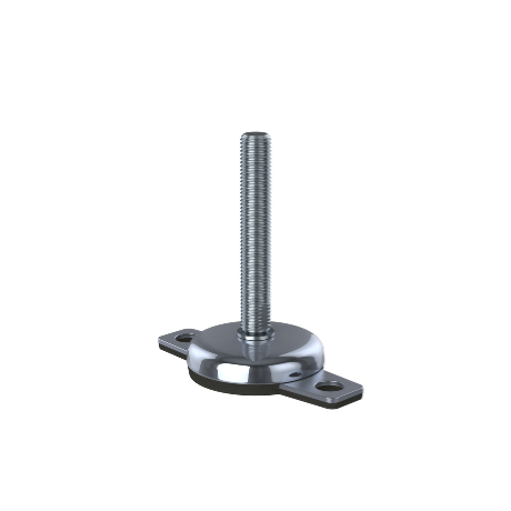 Stainless Steel Bolt Down Machine Foot - 77mm Diameter