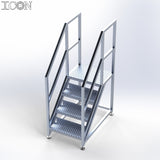 Aluminium Step Unit (Medium Platform)