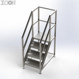 Stainless Steel Step Unit (Medium Platform)