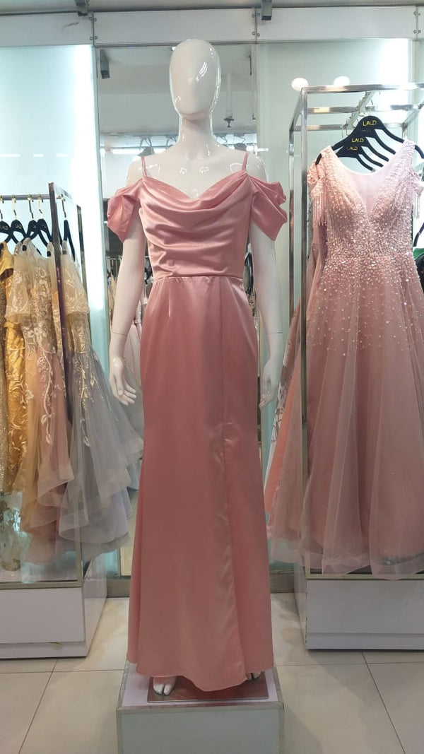 Milia sabrina pink gown