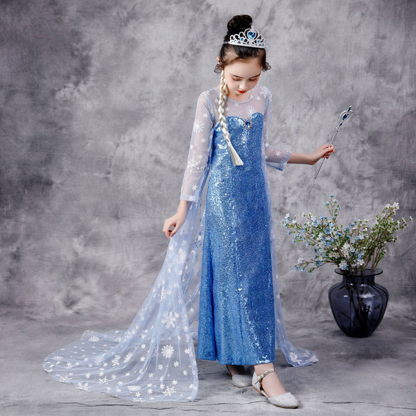 Frozen sisca full sequin dress/ baju pesta anak