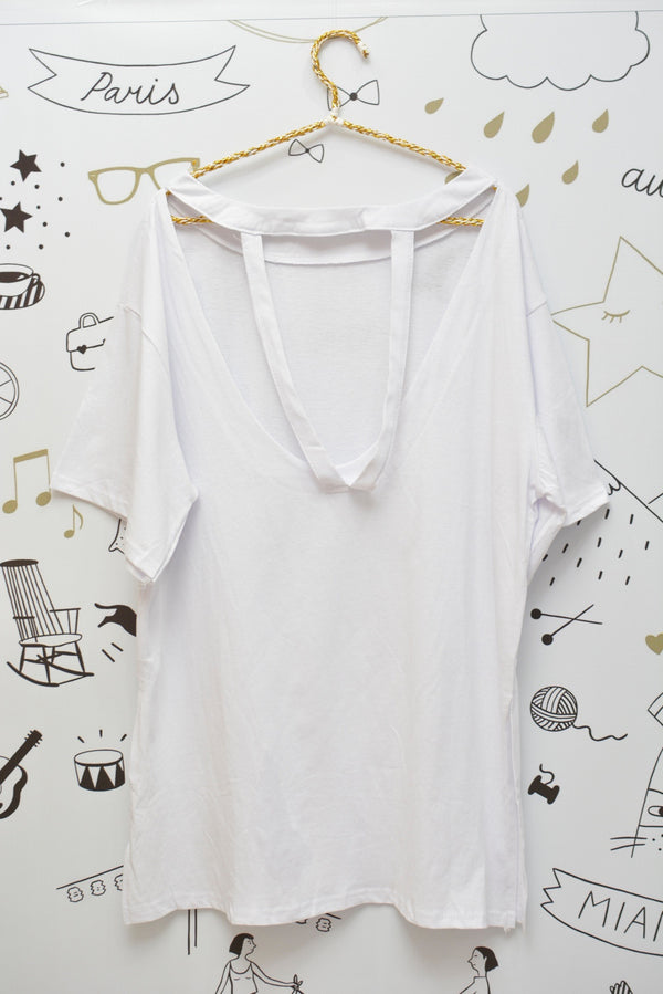 PUZZLE BACK TEE PJ - JUSYCO, Default - womenwear, Default - womenfashion