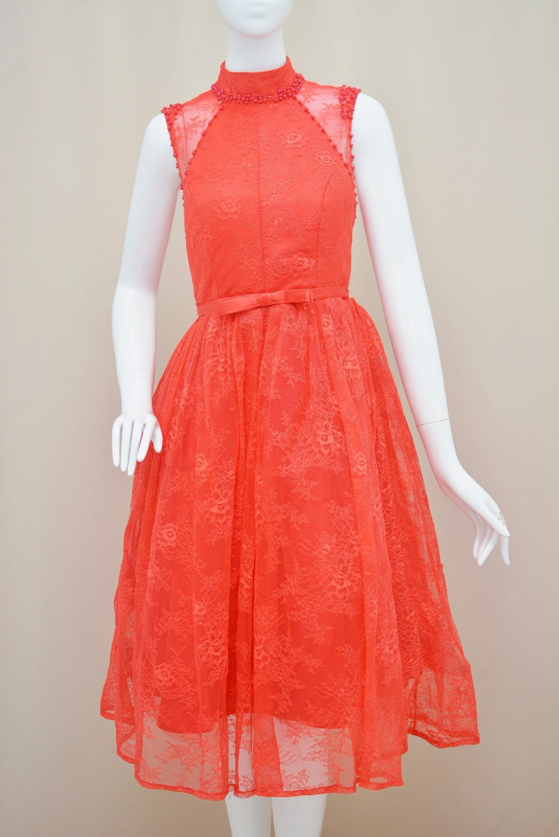 Surry lace red dress