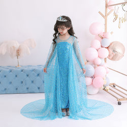 Parishkids Frozen Blue Crystal Dress/ Dress Pesta  Anak Ulang Tahun