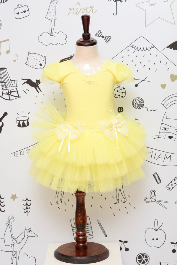 Maya yellow ballet dress - JUSYCO, Default - womenwear, Default - womenfashion