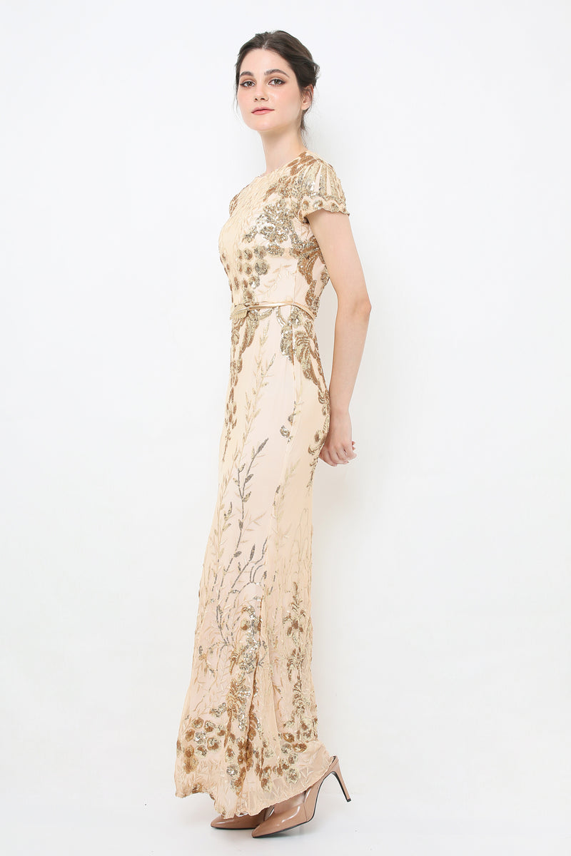 Shelby gold gown - JUSYCO, Default - womenwear, Default - womenfashion
