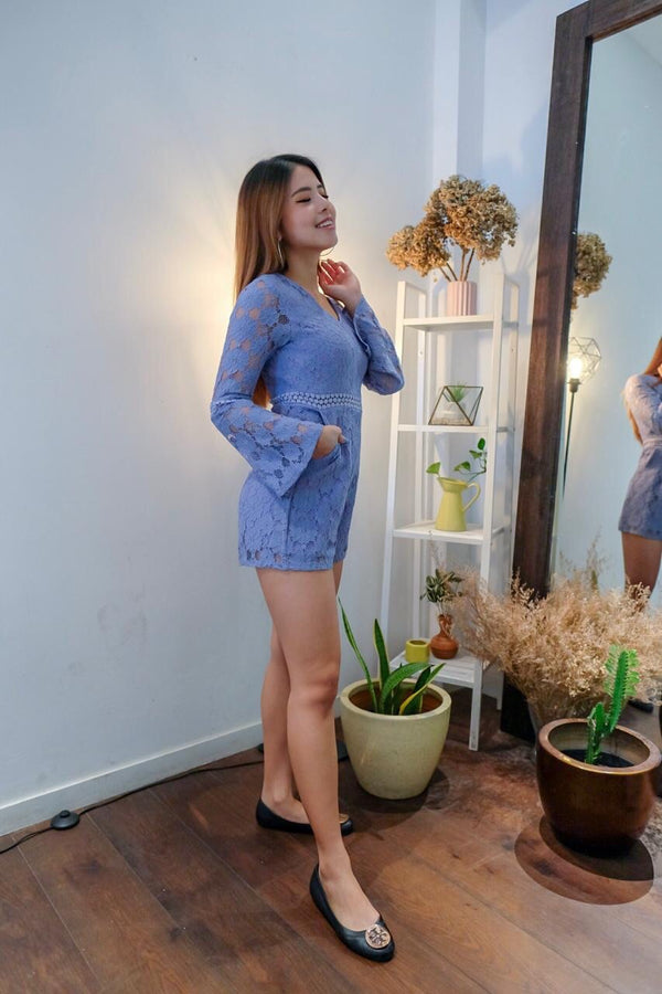 Kitty blue lace jumpsuit
