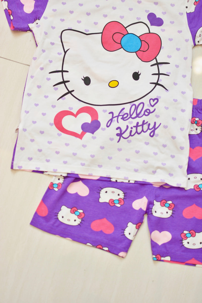 Kitty purple pijama set