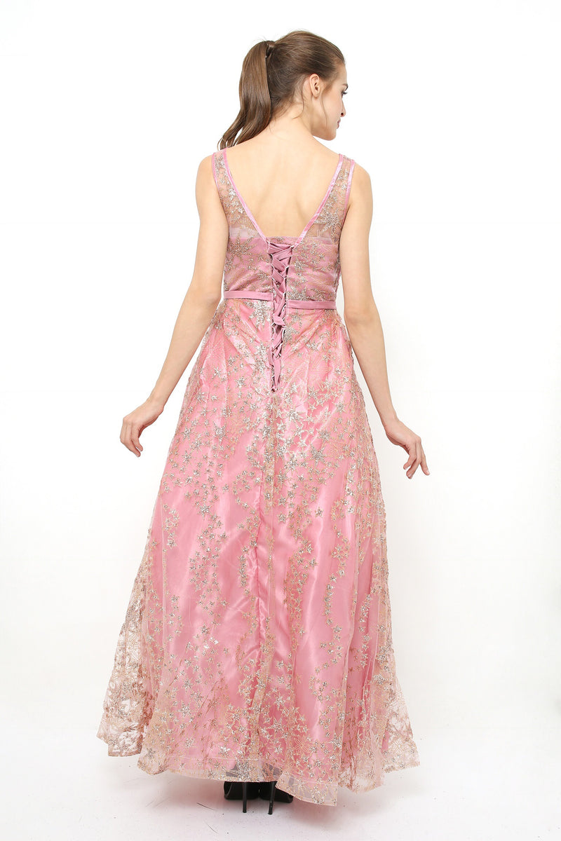 Stargaze pink long gown - JUSYCO, Default - womenwear, Default - womenfashion