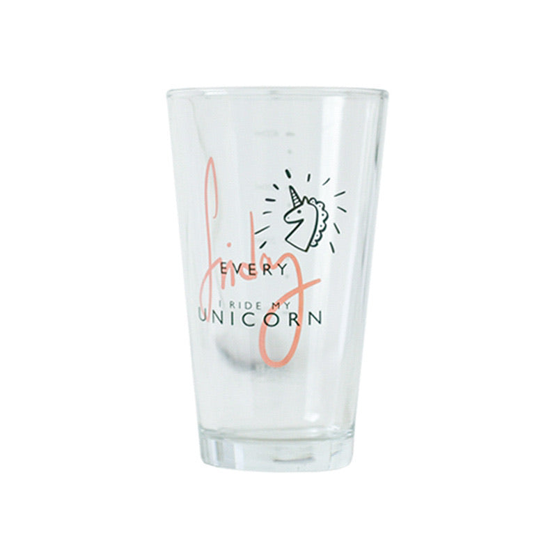 Korean Unicorn Print Glass/ Gelas Lucu  500ml