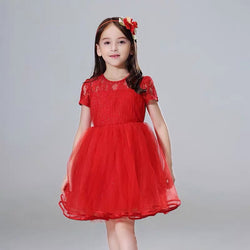Avara red dress/Dress pesta anak parishkids