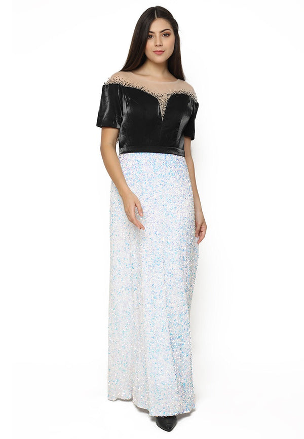 Annella sequin sleeve gown - JUSYCO, Default - womenwear, Default - womenfashion