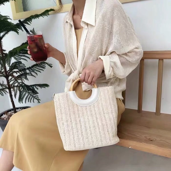 Flynn cream bag - JUSYCO, Default - womenwear, Default - womenfashion