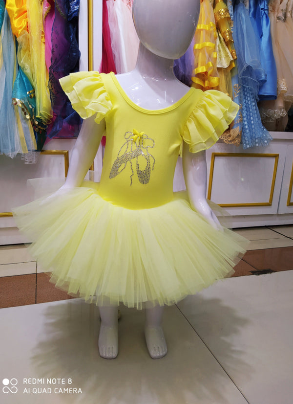 Amor yellow ballet dress