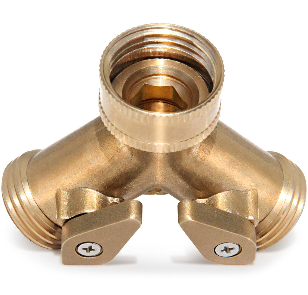 Haus & Garten 2-Way Brass Hose Splitter