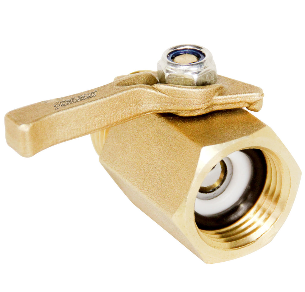 Haus & Garten Heavy-Duty Brass Shut Off Valve