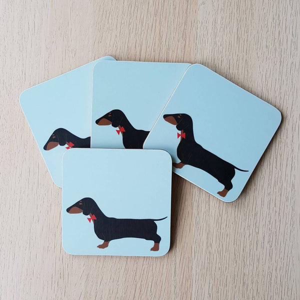 Dashing Dachshund Coasters