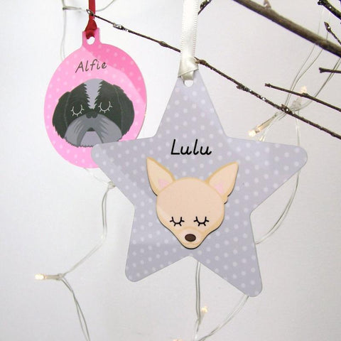 Dog themed christmas tree decoration