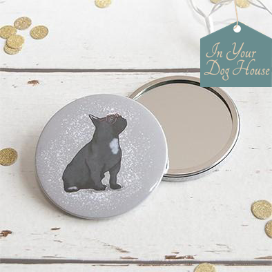 Pocket mirror for Frenchie dog lovers