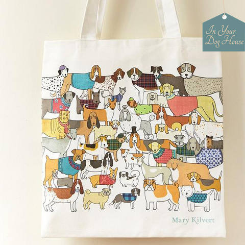 Mary Kilvert pack of pooches shopping bag