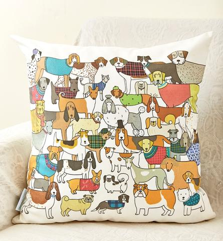 Mary Kilvert dog breed cushion