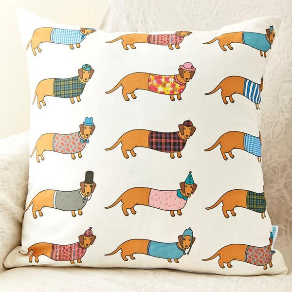 Costume dressed-up dachshund cushion