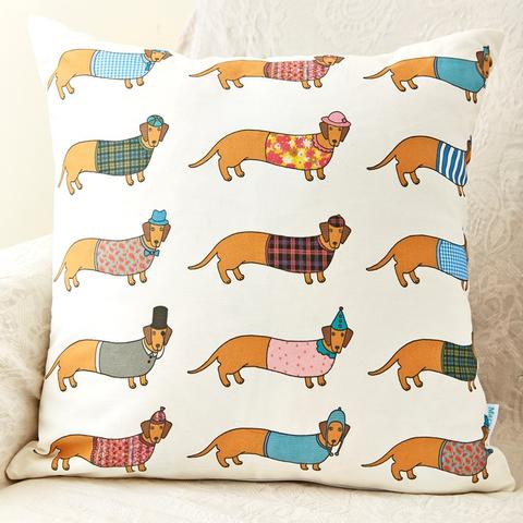 Mary Kilvert Dachshund cushion