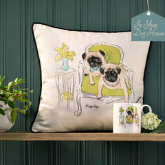 Walter and Florence Scatter Cushion and Mug in Lazy Days