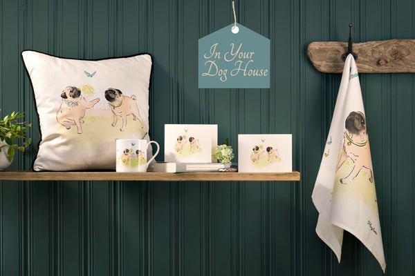 Pug dog inspired gifts and homeware for dog lovers