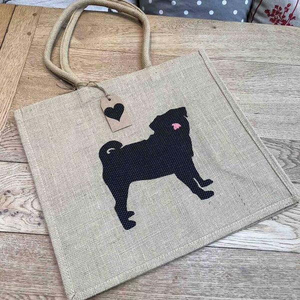 Tote shopping bags featuring various dog breeds