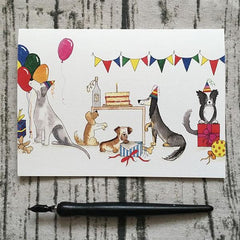 Dog Themed Birthday Card by Illustrator Abi Purrington