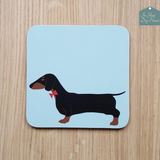 Coaster with image of Dachshund