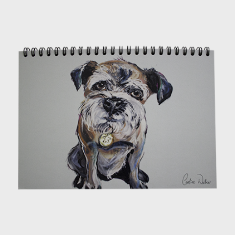 Caroline walker dog print notebook
