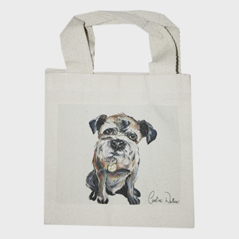 dog print tote bag