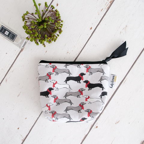 Dachshund dog make up bag for dog lovers