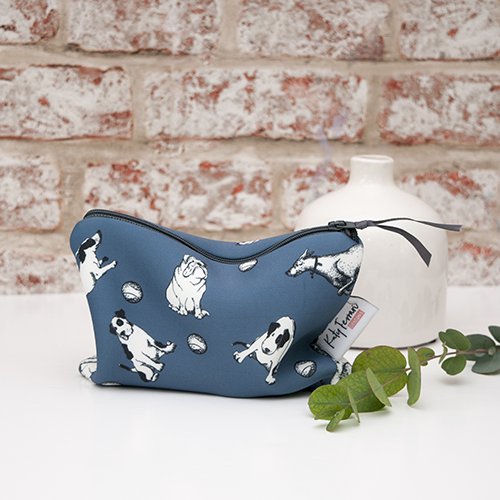Make up or accessory bag for dog lovers
